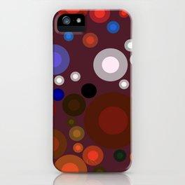 Retro Multi Color Bubbles iPhone Case