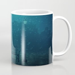 blue city underwater Coffee Mug