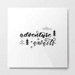 travel lettering Metal Print