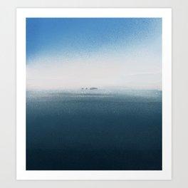 The cold Sea Art Print