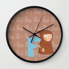 f for friar Wall Clock