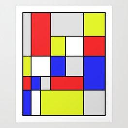Mondrian #25 Art Print