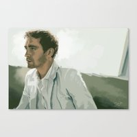 lee pace Canvas Prints featuring Lee Pace by Iulia Rontu