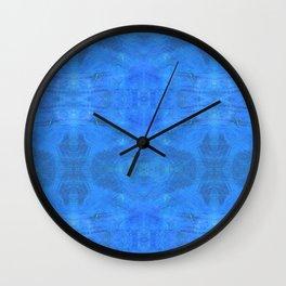 Aztec in blue Wall Clock