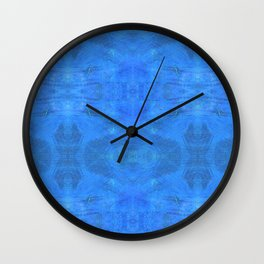 Aztec in blue Wall Clock