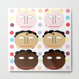 bbnyc: guy twins on dots Metal Print