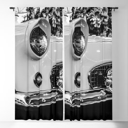 Classic 57 T-bird Black and White Photographic Print Blackout Curtain