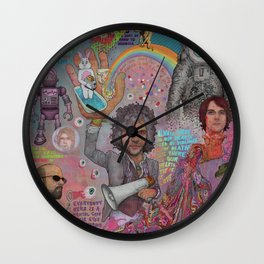The Flaming Lips - Fear Of Slippery Brains, Electric Toasters & Evil Natured Robots From Outer Space Wall Clock