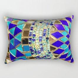 mosaic and beads [photograph] Rectangular Pillow