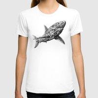 bioworkz T-shirts featuring Great White by BIOWORKZ
