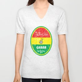 World Cup Football - Ghana (Distressed) Unisex V-Neck