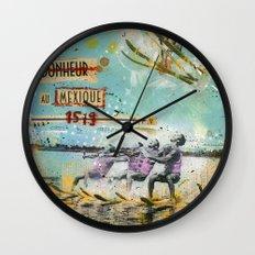 Le bonheur au Mexique Wall Clock