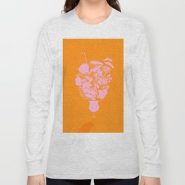 Sunny Tropical Cocktail #tropicalvibes #pattern Long Sleeve T-shirt