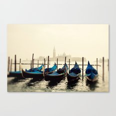 Gondolas in Color Canvas Print