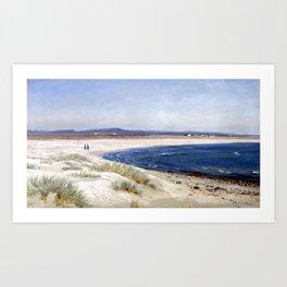 Amaldus Nielsen People on a Beach Art Print