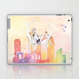 Can not Fight The Moonlight Watercolor Version Laptop & iPad Skin