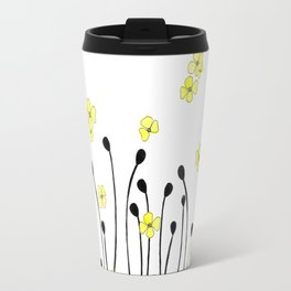Yellow Wildflower Travel Mug