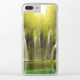 WATERFALL1 Clear iPhone Case