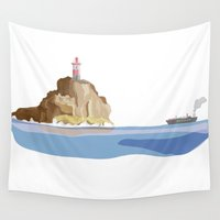 ship Wall Tapestries featuring Ship by Julia Brnv