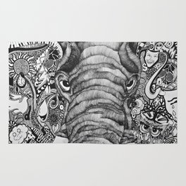 The Idiosyncratic Elephant Sharpie Drawing Rug