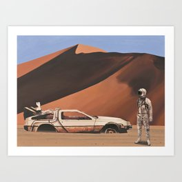 Forgotten Time Machine Art Print
