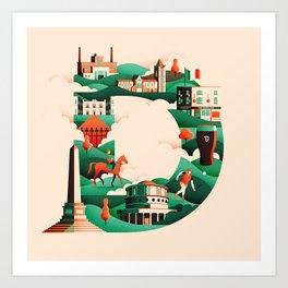 Wanderlust Alphabet – D is for Dublin Art Print