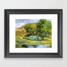 Shade of The Cottonwoods Framed Art Print