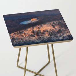 Morning Sun on the Yellow House on the Mountain Side Table