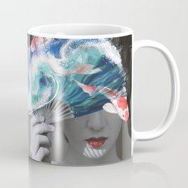 Geisha with Koi Fan. Coffee Mug