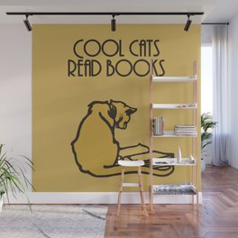 Cool cats read books Wall Mural