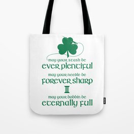 Fabricated Irish Sewing Blessing Tote Bag