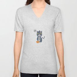 Construction Worker Cat Unisex V-Neck