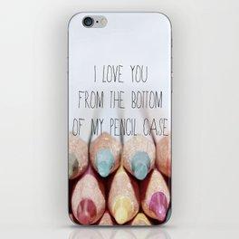 Pencil Case iPhone Skin