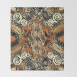 Coiled Metals Throw Blanket