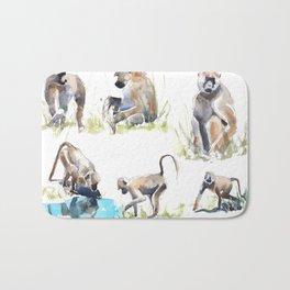 Baboon life Bath Mat