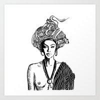 goddess Art Prints featuring Goddess by Fen_A