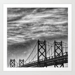 Iowa-Illinois Memorial Bridge - Close Up Art Print