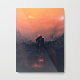Alone at the end, together at last. Metal Print