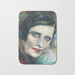 AYN RAND - watercolor portrait.3 Bath Mat