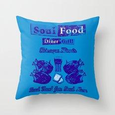 Soul Food for Soul Men Throw Pillow