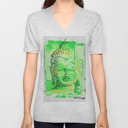 Buddha Green Unisex V-Neck