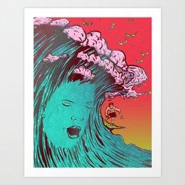 SURFBORTING Art Print