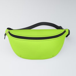 Solid Bright Green Yellow Neon Color Fanny Pack