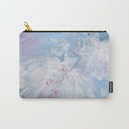 Tutus' in Aqua Carry-All Pouch