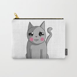 Cat with the Sad Eyes Carry-All Pouch