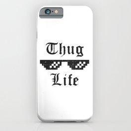 Thug life glasses print iPhone Case