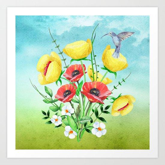Flowers bouquet #20 Art Print