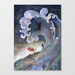 A fearless girl Canvas Print