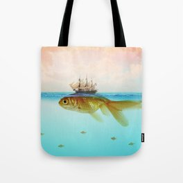 Goldfish Tall Ship Tote Bag