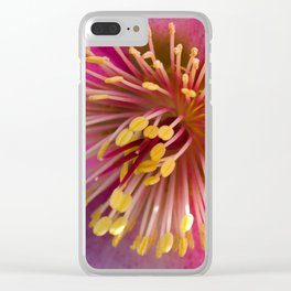 Pink Hellebore Clear iPhone Case